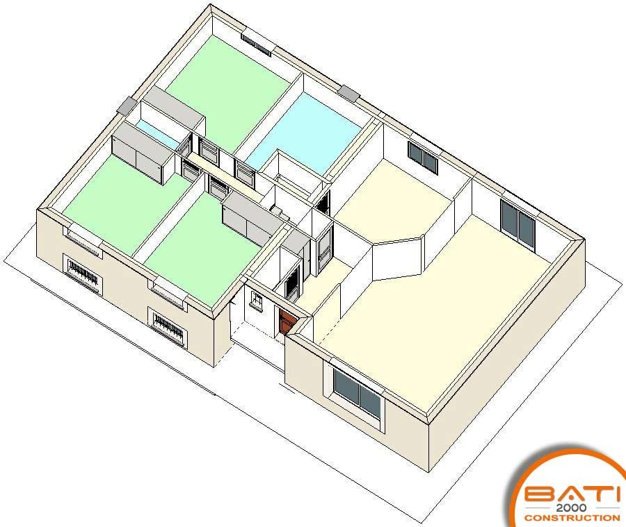 Realisation Des Plans De Construction A Buxerolles Maison Individuelle Sur Sous Sol Maison Individuelle Sur Sous Sol Plan Maison Demi Sous Sol Traditionnelle 111m 3 Chambres